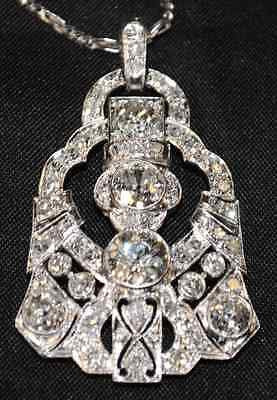 1910s 6 Carat Diamond Vintage Art-Deco Pendant in Platinum - $70K VALUE