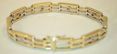 Contemporary 1.5+ Carat Diamond Bracelet in Two-Tone Gold - $20K VALUE