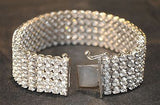Antique Style Designer 11 Carat 5-Row Diamond Bracelet in 14K White Gold - $50K VALUE