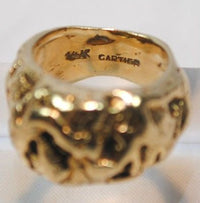 1940s Vintage Custom Cartier 14K Yellow Gold Nugget Style Ring - $10K VALUE