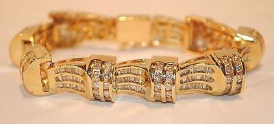 12 Carat Vintage Diamond Bracelet in Yellow Gold - $30K VALUE