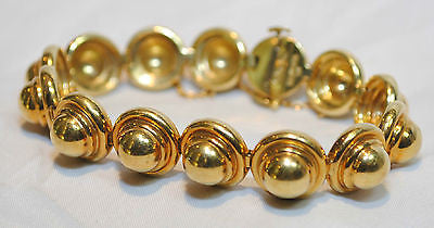 Paloma Picasso Designed Tiffany & Co. 18K Yellow Gold Ball Link Bracelet - $30K VALUE