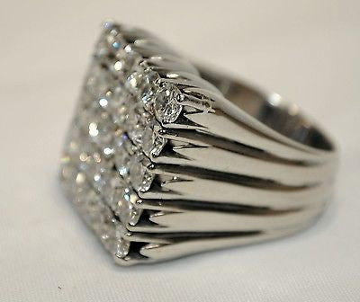 5.75 Carat Diamond Statement Ring in 18K White Gold - $30K VALUE
