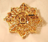 1930s Vintage Approximately 2 Carat Diamond Scroll Brooch/Pendant in 14K Gold - $20K VALUE
