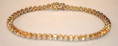 Contemporary 3 Carat Diamond Tennis Bracelet in 14K Yellow Gold - $10K VALUE