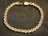 Contemporary Two-Tone Gold Bezel Bracelet with Yellow and White Diamonds in 14K Yellow and White Gold - $40K VALUE