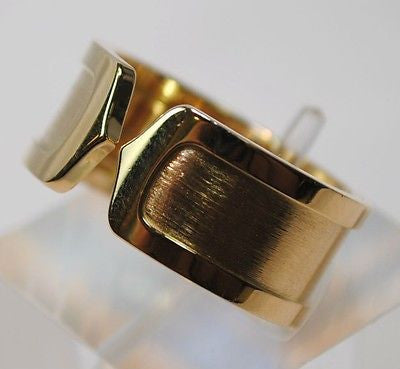 Cartier Double C Decor Large Model Wedding Ring in 18K Yellow Gold - $10K VALUE