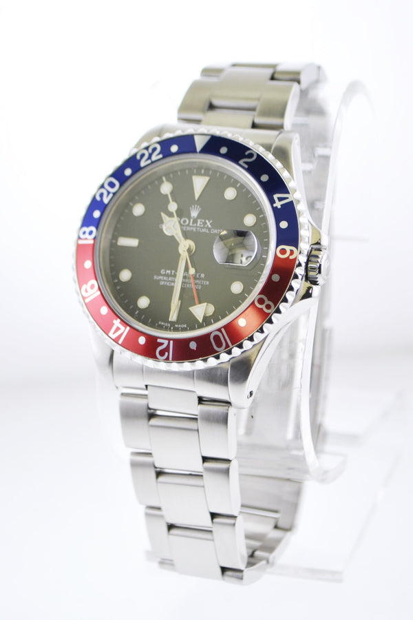 Rolex GMT-Master Wristwatch Pepsi in Stainless Steel Water Resistant - $20K VALUE