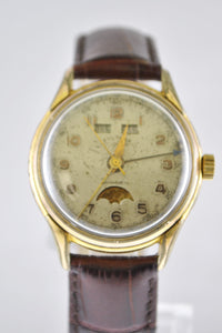 Vintage Sultana Triple Calendar Men's Wristwatch in Gold tone - $10K VALUE