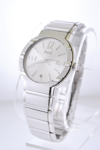 Piaget Date Men's 18K White Gold Automatic Wristwatch - $60K VALUE