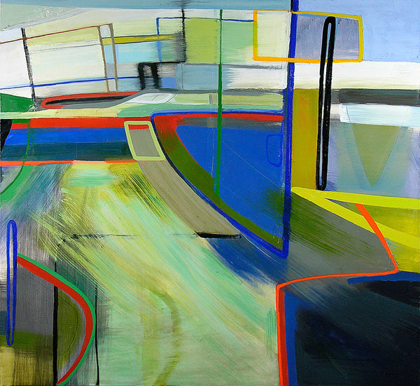 Jean Arnold, 'University: Retracement', Urban Motion Series, Oil on Canvas, Unframed, 2006 - Appraisal Value: $12K