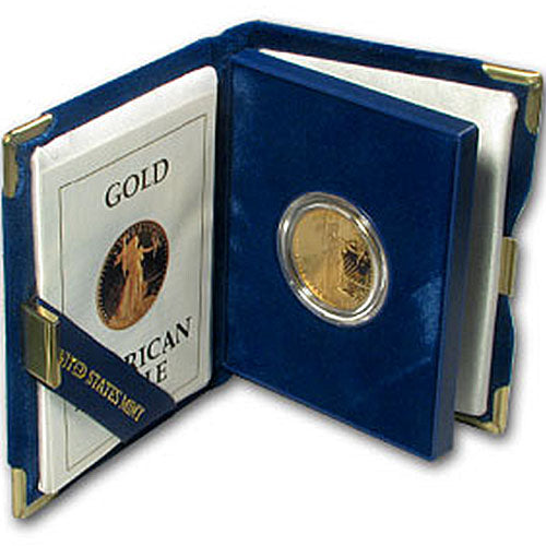 1/2 oz Proof American Gold Eagle (Random Year, Box + CoA)
