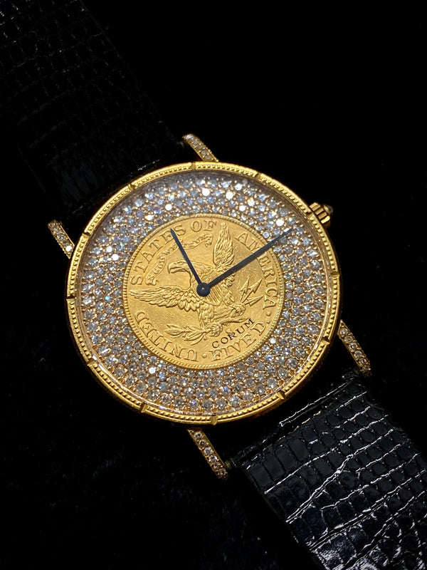 CORUM Limited Edition #19/75 18KYG United States Bicentennial $5 Gold Coin Watch w/ 261 Factory Diamonds! - $65K Appraisal Value! ✓