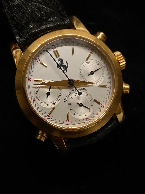 GIRARD-PERREGAUX Limited Edition #27/750 Ferrari  Automatic Rattrapente Chronograph Ref. #1509 - $80K Appraisal Value! ✓