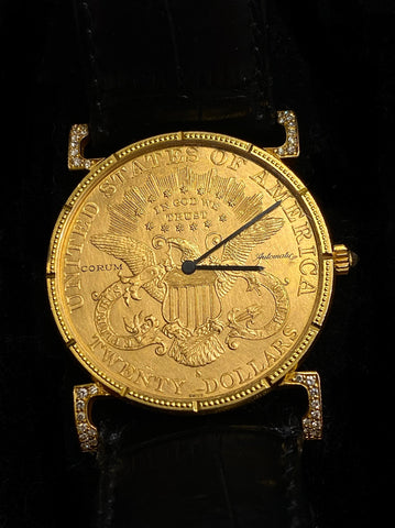 Corum 18K Gold United States 1891 $20 Coin Face Watch $30K Apr. w/ CoA!