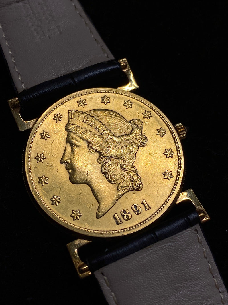 CORUM Limited Edition United States 1891 $20 18KYG Coin Watch w/ 36 Diamonds - $30K Appraisal Value! ✓