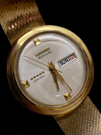 LONGINES Vintage 1960s 5-Star Admiral in 14K Yellow Gold with Rare White Dial - $30K Appraisal Value! ✓