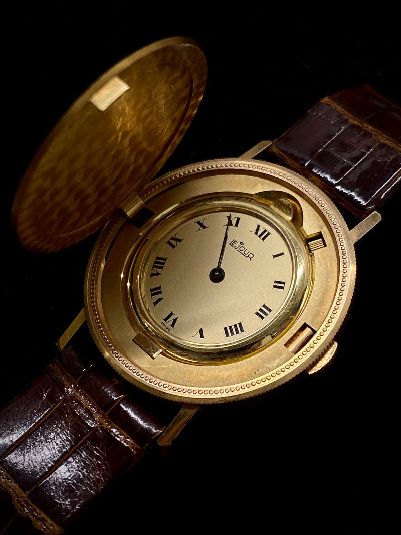 LEJOUR Extremely Rare 18K Yellow Gold $20 Hidden Coin Watch - $15K Appraisal Value! ✓