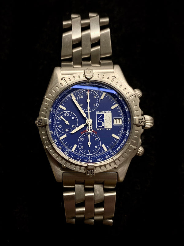 BREITLING Chronomat US Air Force 50th Anniversary Limited Edition #8/50! - $10K Appraisal Value! ✓
