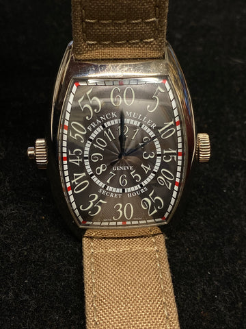 FRANCK MULLER Ltd Ed Secret Hours Stainless Steel Ref #8880 SE H Apr $60k w/ CoA