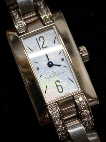 JAEGER LECOULTRE Ideale Stainless Steel Diamonds Ref #480.8.08 Apr $15K w/ CoA