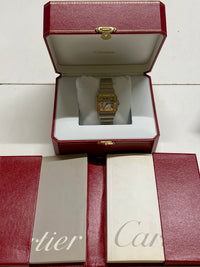 CARTIER Santos Galbee Two-Tone SS & 18K YG Wristwatch, Ref. #1566 - $10K Appraisal Value! ✓