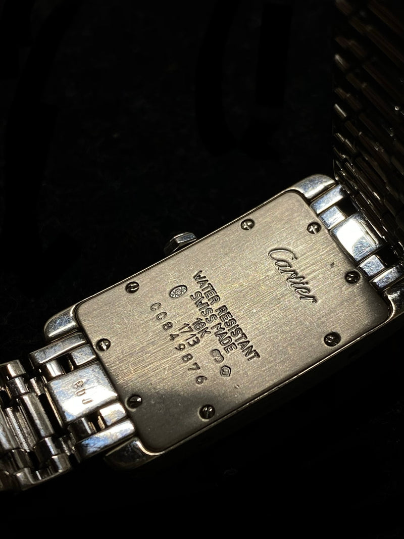 CARTIER Ladies Tank Americane 18K White Gold w/ 98 Diamonds - $80K Appraisal Value! ✓