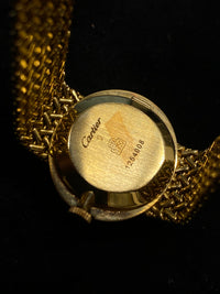 CARTIER Extremely Rare 18K Yellow Gold Wristwatch w/ 22 Diamond Bezel - $30K Appraisal Value! ✓