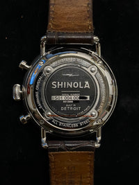 SHINOLA Argonite Men's Stainless Steel Chronograph w/ Emerald Green Dial - $1.2K Appraisal Value! ✓