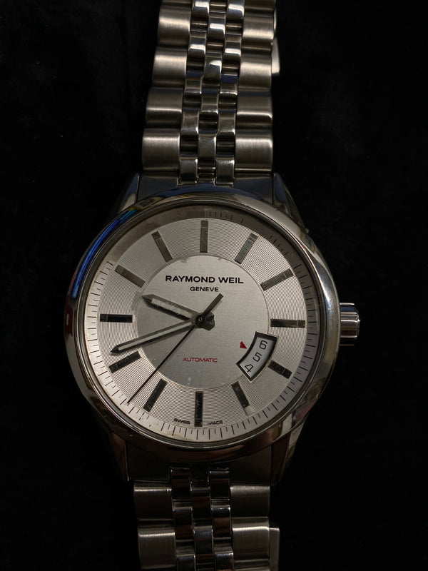 RAYMOND WEIL Classic Stainless Steel Automatic Men's Watch w/ Date Feature - $3K Appraisal Value! ✓