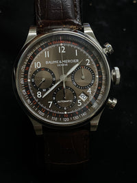 BAUME & MERCIER Capeland Stainless Steel Automatic Chronograph - $10K Appraisal Value! ✓