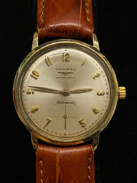 LONGINES Vintage Grand Prize Automatic Gold-tone Wristwatch - $5K Appraisal Value! ✓