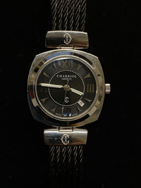 PHILIPPE CHARRIOL Stainless Steel Rare Bracelet and Dial Watch, Ref. #ALEXL - $6K VALUE