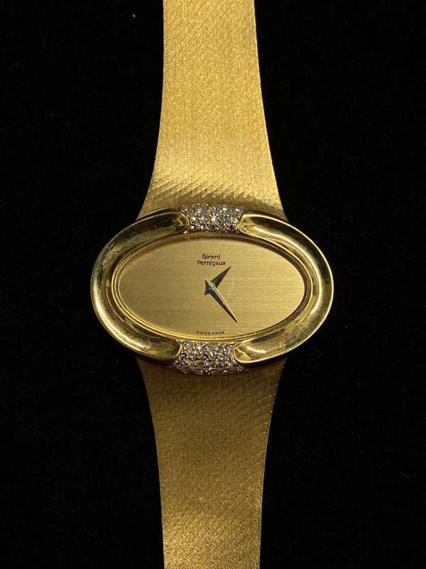 GIRARD PERREGAUX Incredible 18K YG 42-Diamond Mechanical Watch - $40K Appraisal Value! ✓