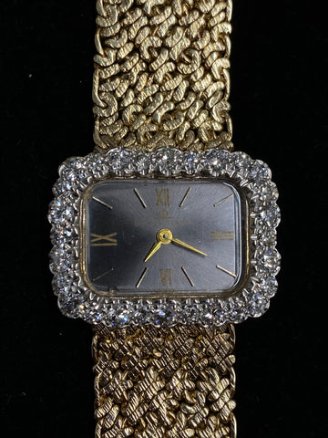 Baume & Mercier 14K Yellow Gold 28 Diamonds on Bezel Unisex Mechanical Wristwatch Ref.#BM775 30K Value w/ CoA
