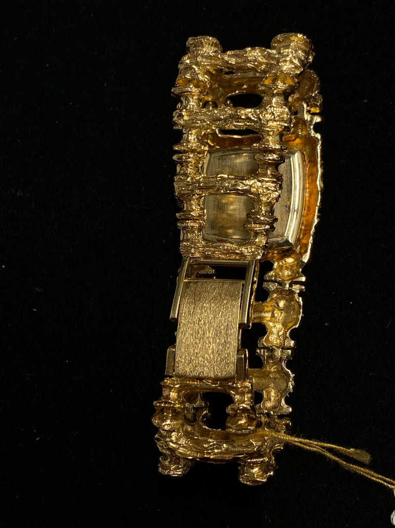 LUCIEN PICCARD Amazing 37 Diamond One of a Kind 14K YG Wristwatch - 30K Appraisal Value! ✓