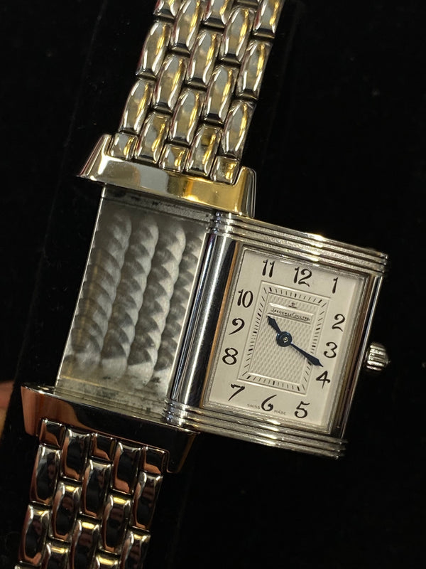 JAEGER LECOULTRE Ladies Reverso Stainless Steel Dual Model Watch - Incredibly Rare - $25K Appraisal Value! ✓