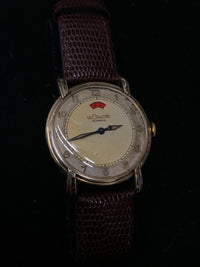 JAEGER LECOULTRE Incredible Vintage 1945 Automatic Bumper Movement Power Reserve Watch - $10K Appraisal Value! ✓