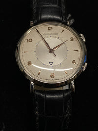 JAEGER LECOULTRE Vintage 1940's Stainless Steel Alarm Mechanical Watch - $13K Appraisal Value! ✓