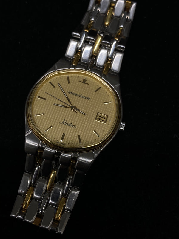 JAEGER LECOULTRE Limited Ed. Albatros Date Two-Tone 18K YG & SS Men's Dress Quartz Watch  - $20K Appraisal Value! ✓