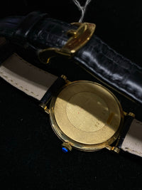 JAEGER LECOULTRE 18K Yellow Gold Mechanical Dress Watch w/ Special Porcelain Style Dial - $20K Appraisal Value! ✓