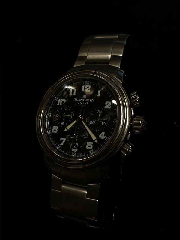 BLANCPAIN Flyback Large Face Stainless Steel Men's Automatic Chronograph - $25K Appraisal Value! ✓