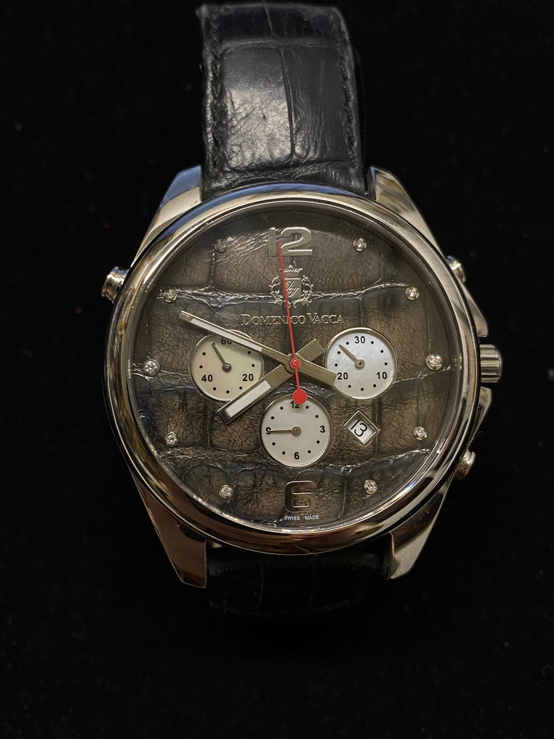 JACOB & CO. Domenico Vacca Rare SS Automatic Chronograph w/ MoP Diamond Dial! - $30K Appraisal Value! ✓