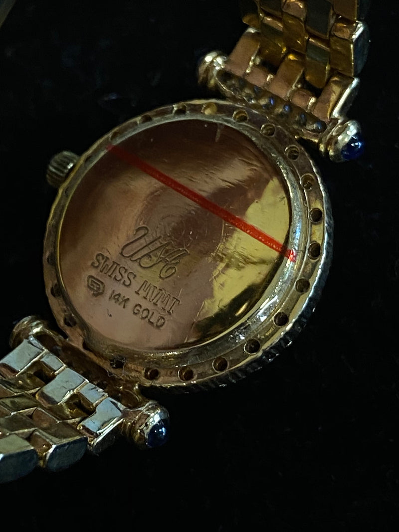 JACOB & CO. Yellow Gold 80 Diamond Bezel MoP Dial Ladies Watch - $30K Appraisal Value! ✓