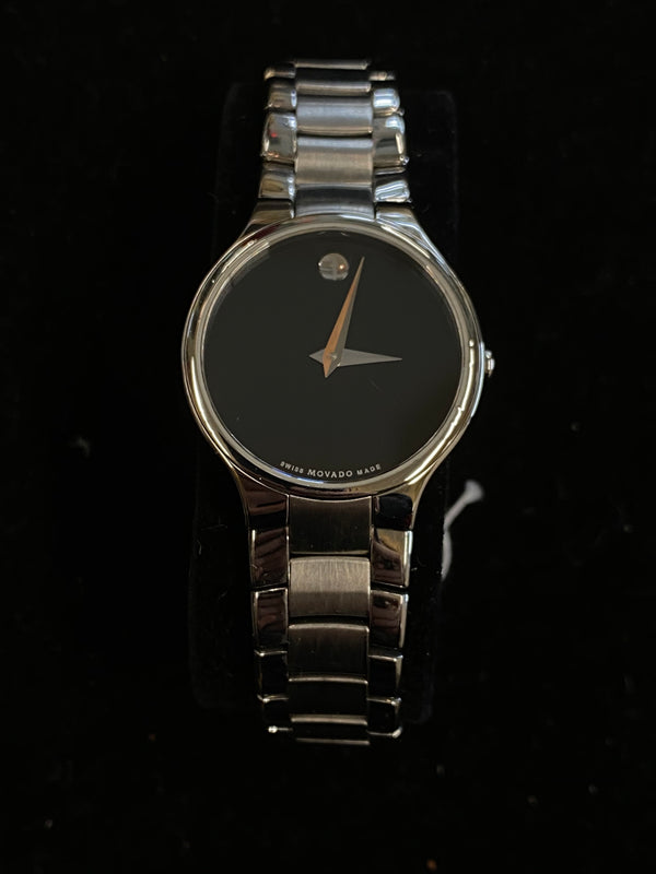 MOVADO Museum Series Stainless Steel Ladies Watch w/ Black Dial - $1.6K Appraisal Value! ✓