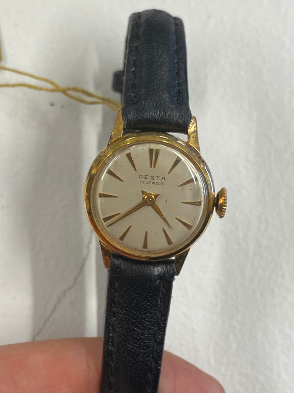 DESTA Vintage 1940's  Rose Gold Tone Lady's Mechanical Watch - $4K Appraisal Value! ✓