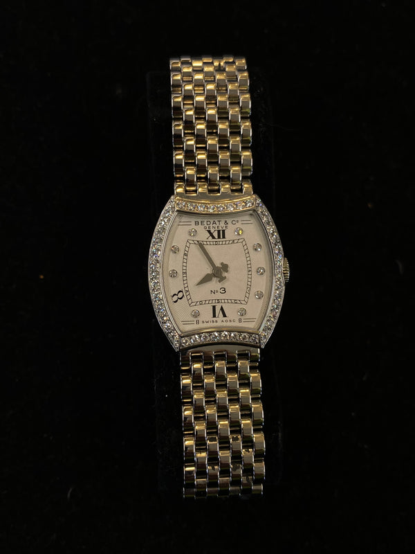 BEDAT & CO. No.3 Stainless Steel Ladies Watch w/ 50 Diamonds! - $10K Appraisal Value! ✓