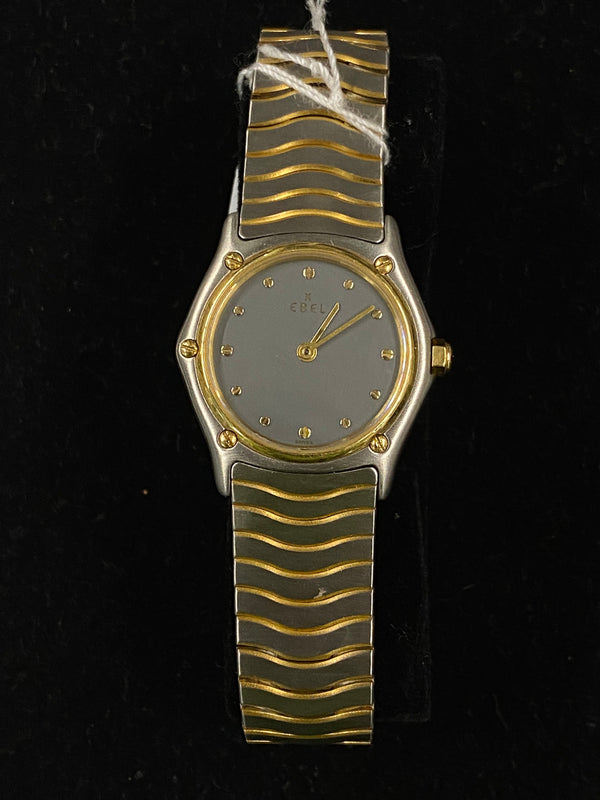 EBEL Two-Tone 18K Yellow Gold Stainless Steel Platinum Dial Ladies Watch -$6.5K Appraisal Value! ✓
