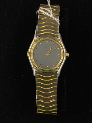 EBEL Two-Tone 18K Yellow Gold Stainless Steel Platinum Dial Ladies Watch -$6.5K Appraisal Value!