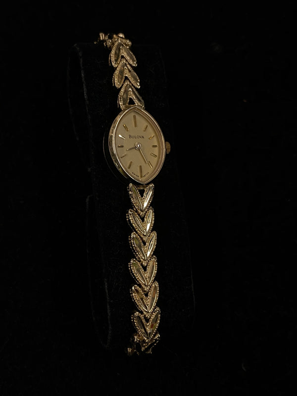 BULOVA Beautiful Vintage Style Gold Tone Ladies Bracelet Watch - $7K Appraisal Value! ✓